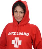 Red Hooded Lifeguard Sweatshirt