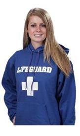 Blue Lifeguard Hooded Sweatshirt - Hoodie