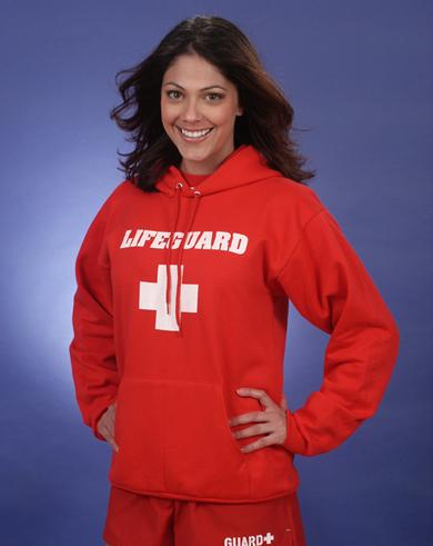 Red Hoodie - Hooded Lifeguard Sweatshirt